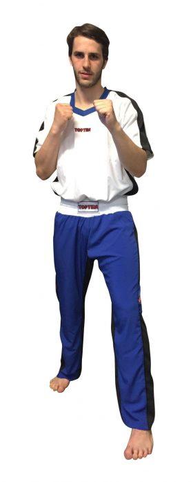 """Kickboksuniform """"FLEXZ"""" voor kinderen Blauw - Wit"""