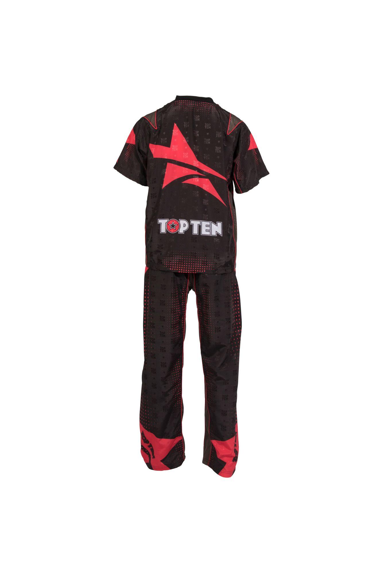 """TOP TEN Kickboksuniform """"Future"""" voor kinderen Zwart - rood"""