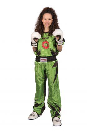 """Kickboksuniform """"Future"""" voor kinderen Groen - Zwart"""