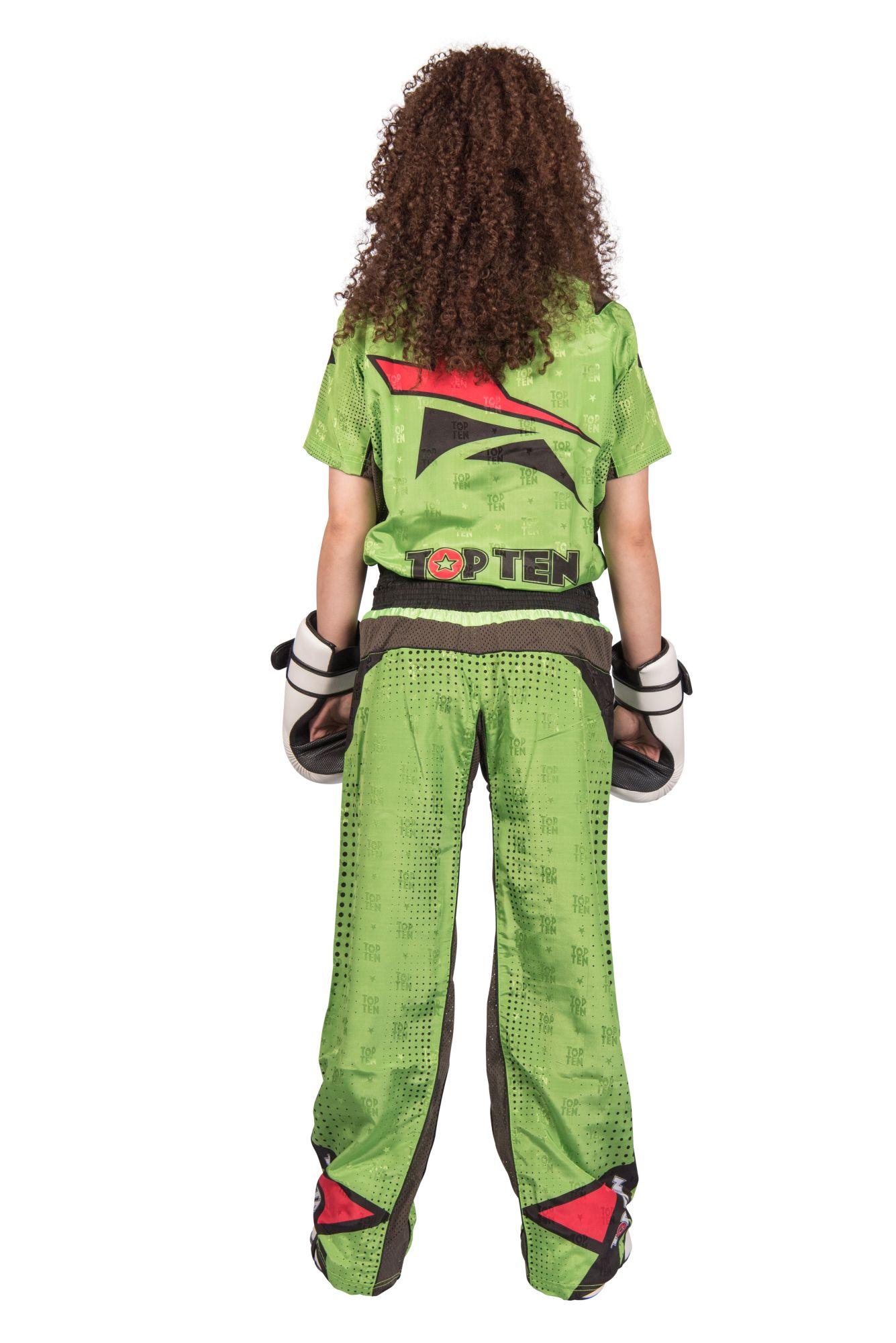 """TOP TEN Kickboksuniform """"Future"""" voor kinderen Groen - Zwart"""