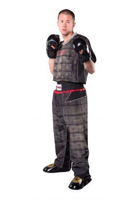 """Kickboksuniform """"Snake"""" voor kinderen Zwart - zilver"""