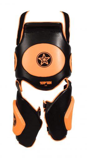 "Trapkussen ""Bodyguard Xtra"" Zwart - Oranje"