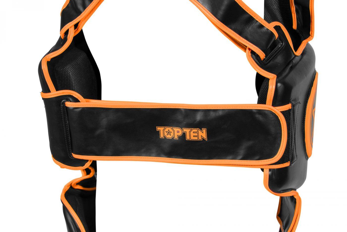 "TOP TEN Trapkussen ""Bodyguard Xtra"" Zwart - Oranje"