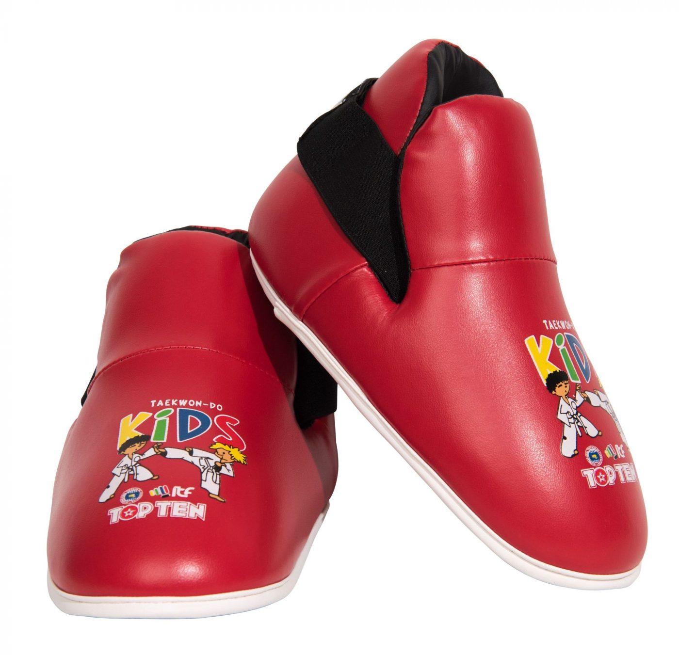 """TOP TEN Kicks """"ITF Kids"""" voetbeschermers Rood"""