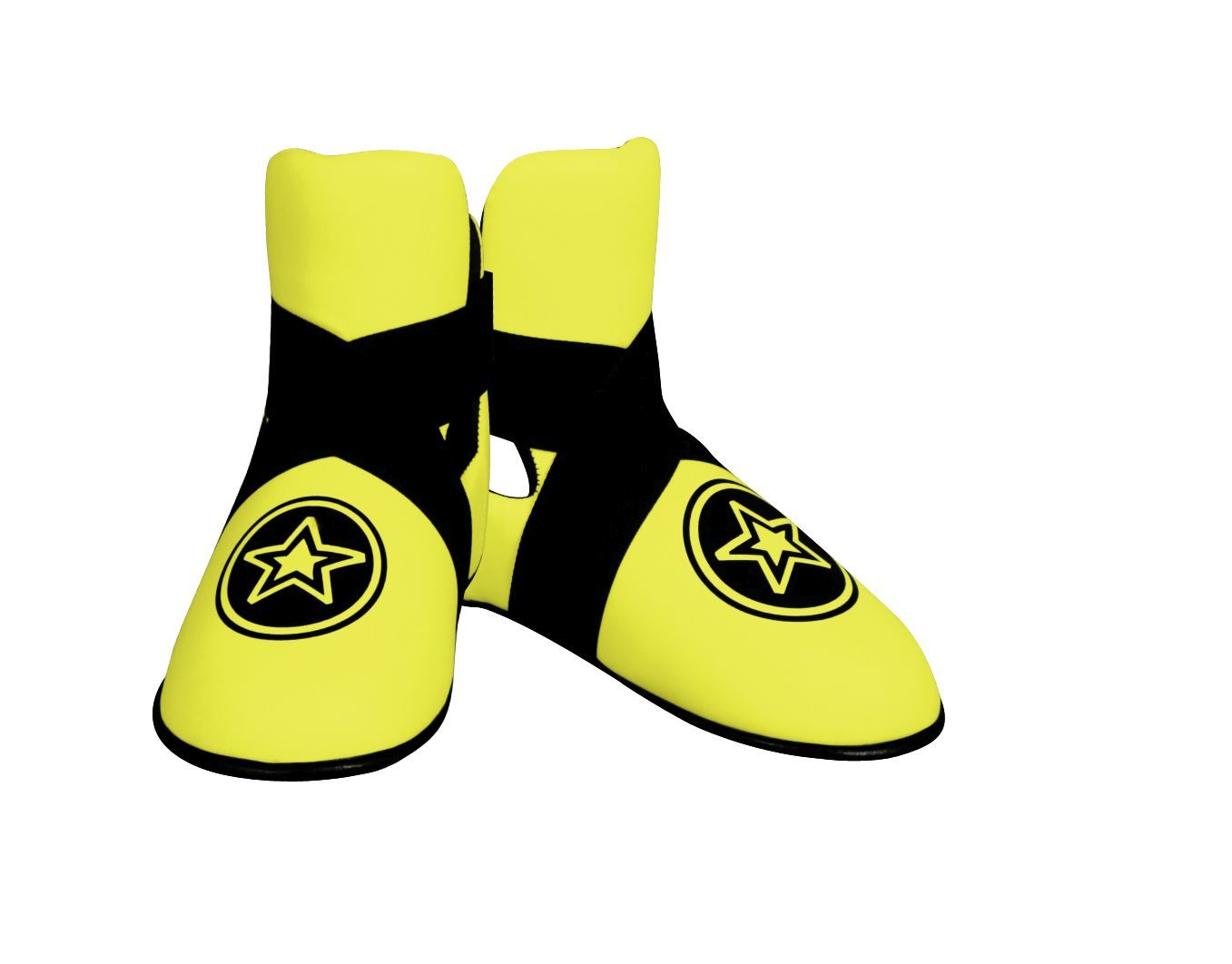 """TOP TEN Kicks """"NEON Star"""" voetbeschermers Geel"""