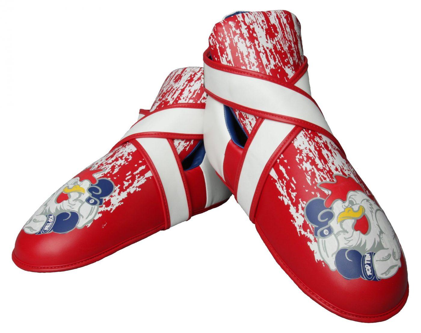 """Kicks """"Rooster"""" voetbeschermers Rood - Blauw"""