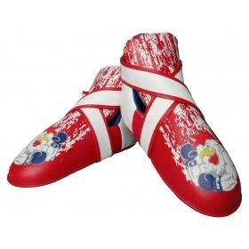 """TOP TEN Kicks """"Rooster"""" voetbeschermers Rood - Blauw"""
