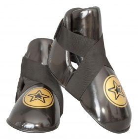 """Kicks """"Star"""" voetbeschermers Zwart - goud"""