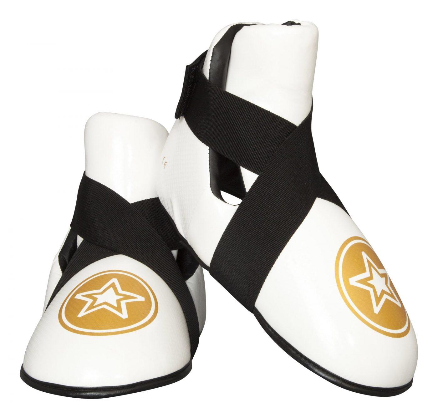 """TOP TEN Kicks """"Star"""" voetbeschermers Wit - goud"""