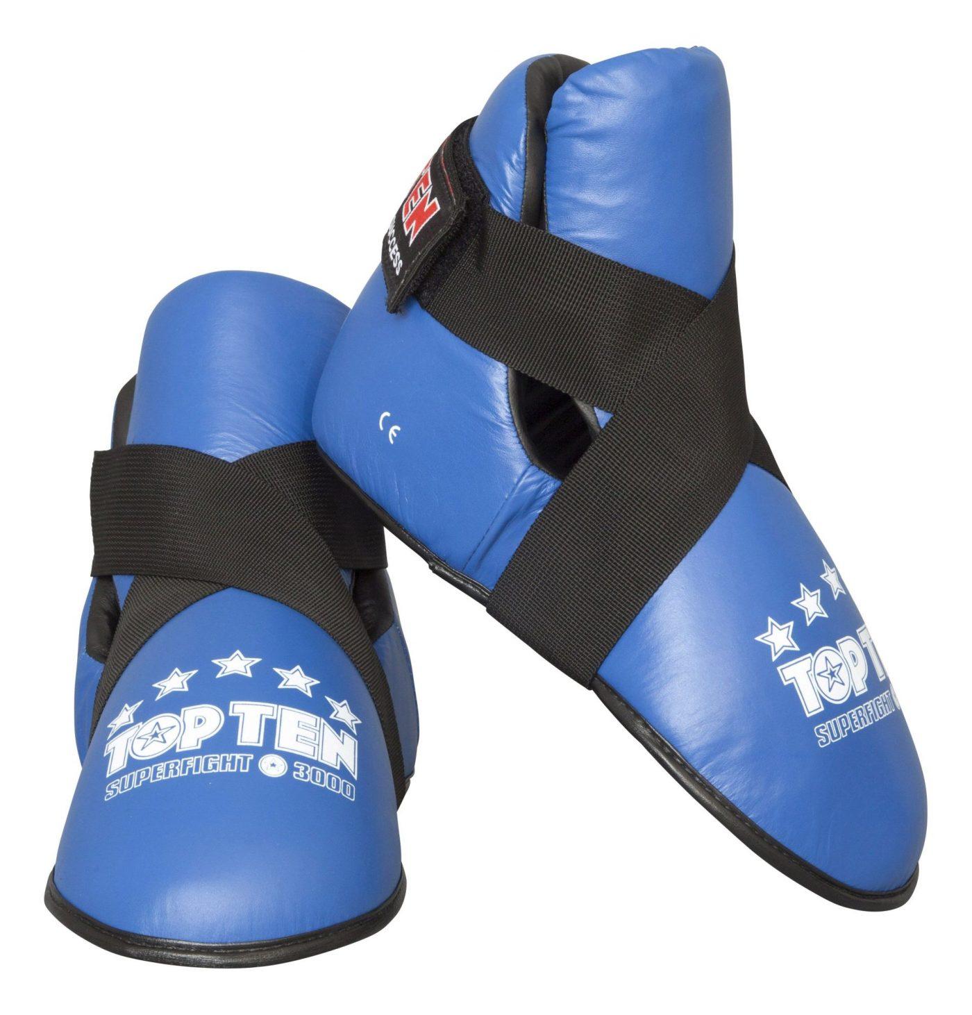 """TOP TEN Kicks """"Superfight 3000"""" voetbeschermers Blauw"""