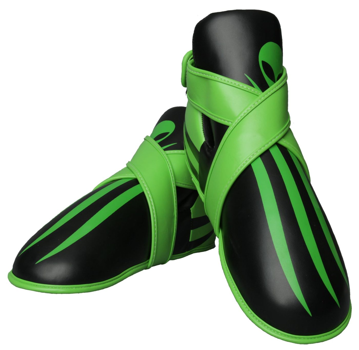 """Kicks """"Alien"""" voetbeschermers Zwart - Groen"""