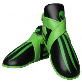 """TOP TEN Kicks """"Alien"""" voetbeschermers Zwart - Groen"""