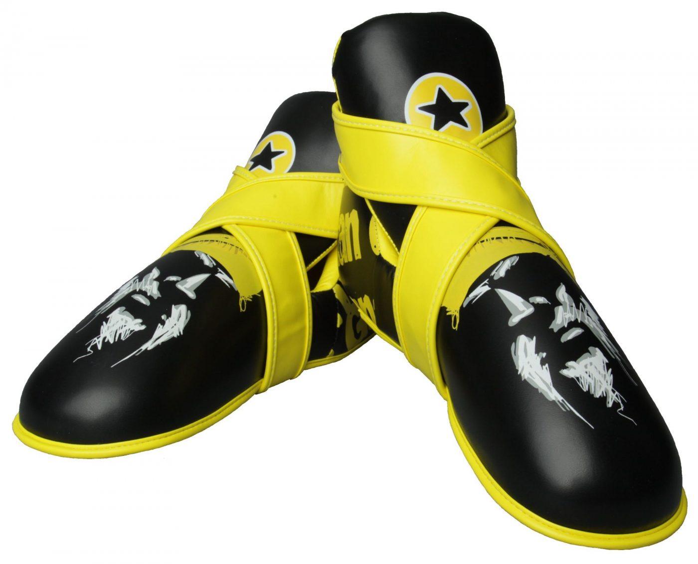 """TOP TEN Kicks """"Titans"""" voetbeschermers Zwart - Geel"""