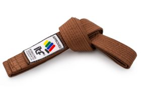 """Taekwondoband """"ITF"""" Bruin"""