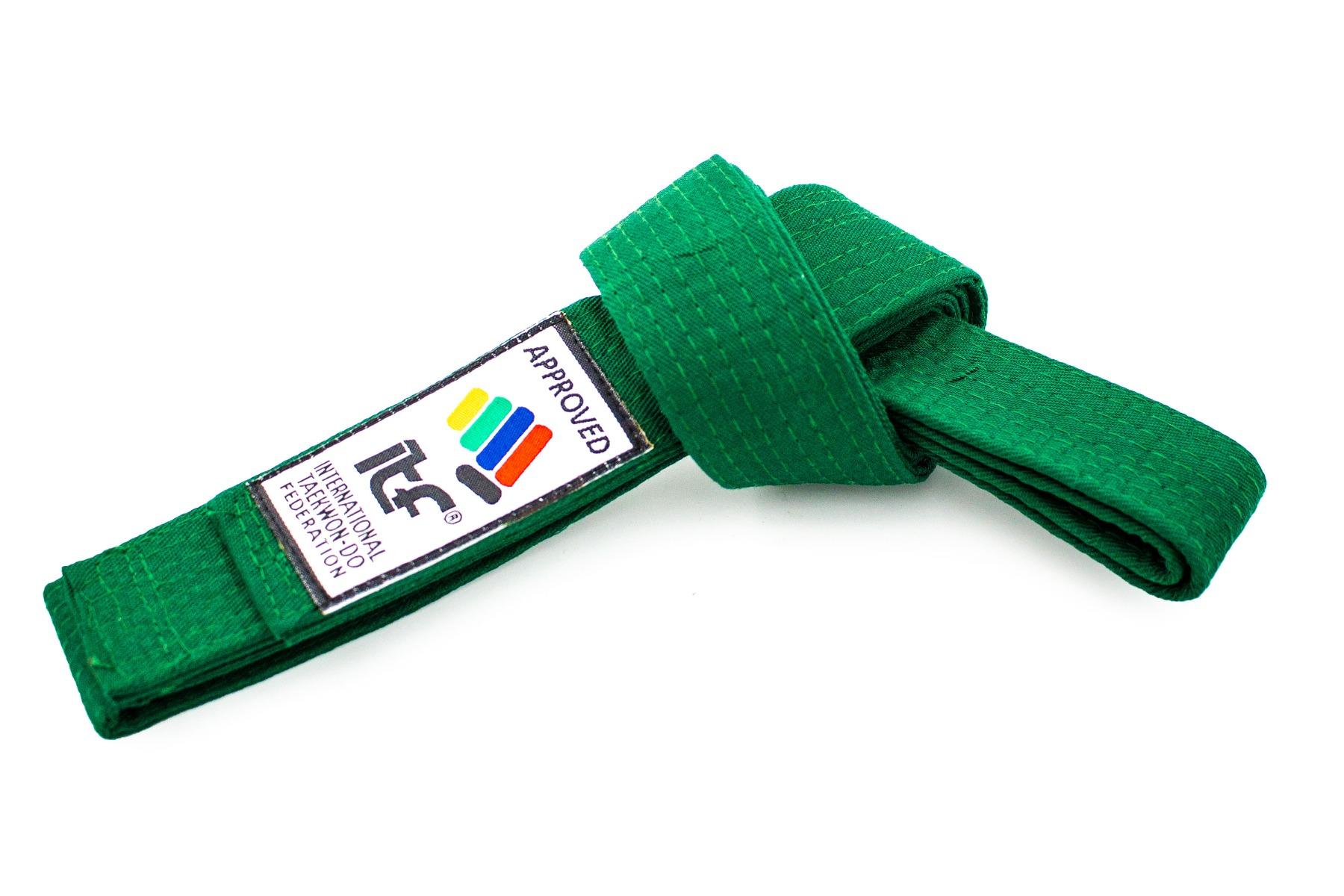 "TOP TEN Taekwondoband ""ITF"" Groen"