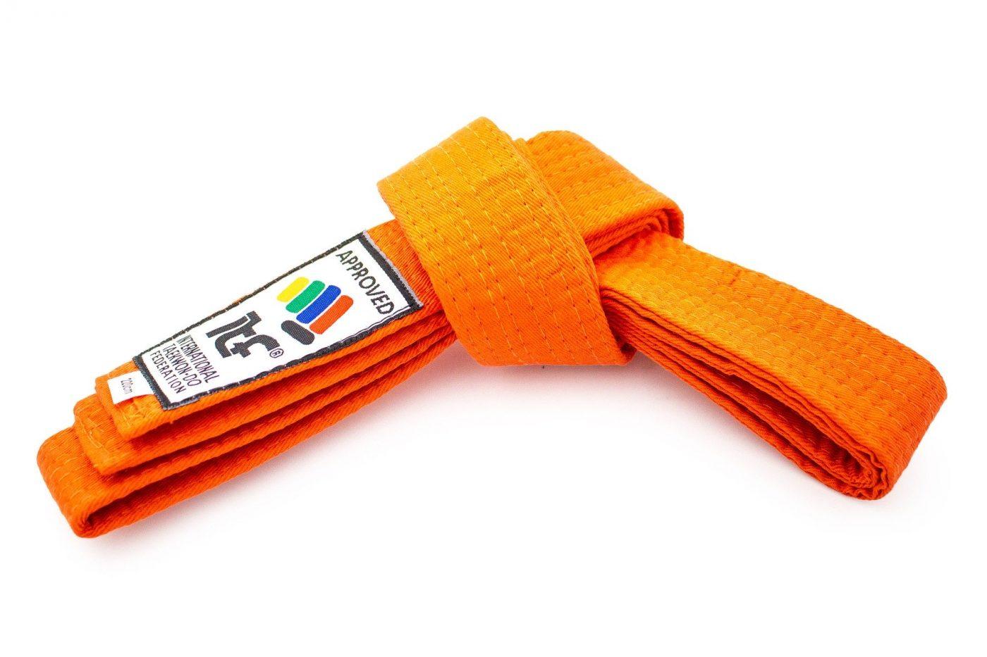 "TOP TEN Taekwondoband ""ITF"" Oranje"