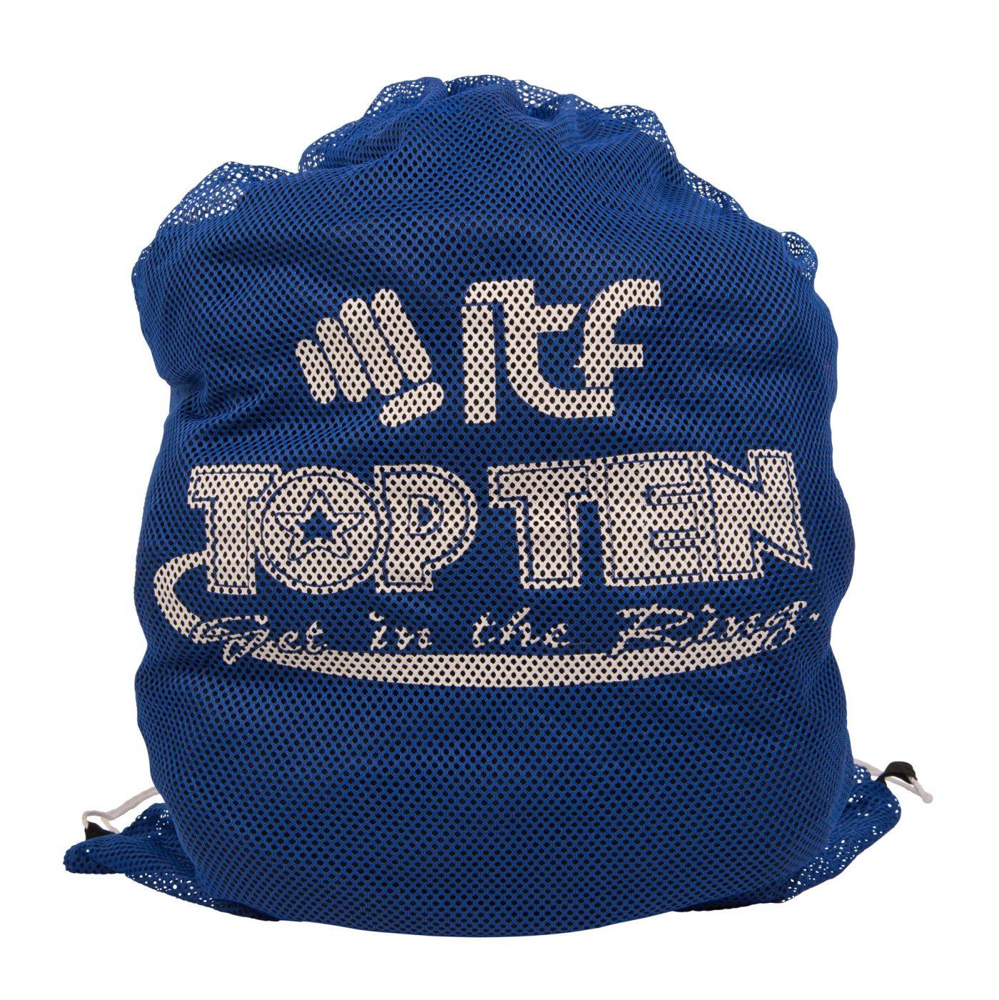 """TOP TEN Mesh tas """"ITF"""" Blauw"""