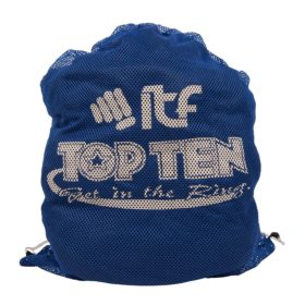 "TOP TEN Mesh tas ""ITF"" Blauw"