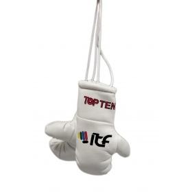 """TOP TEN Mini bokshandschoenen """"ITF"""" Wit"""