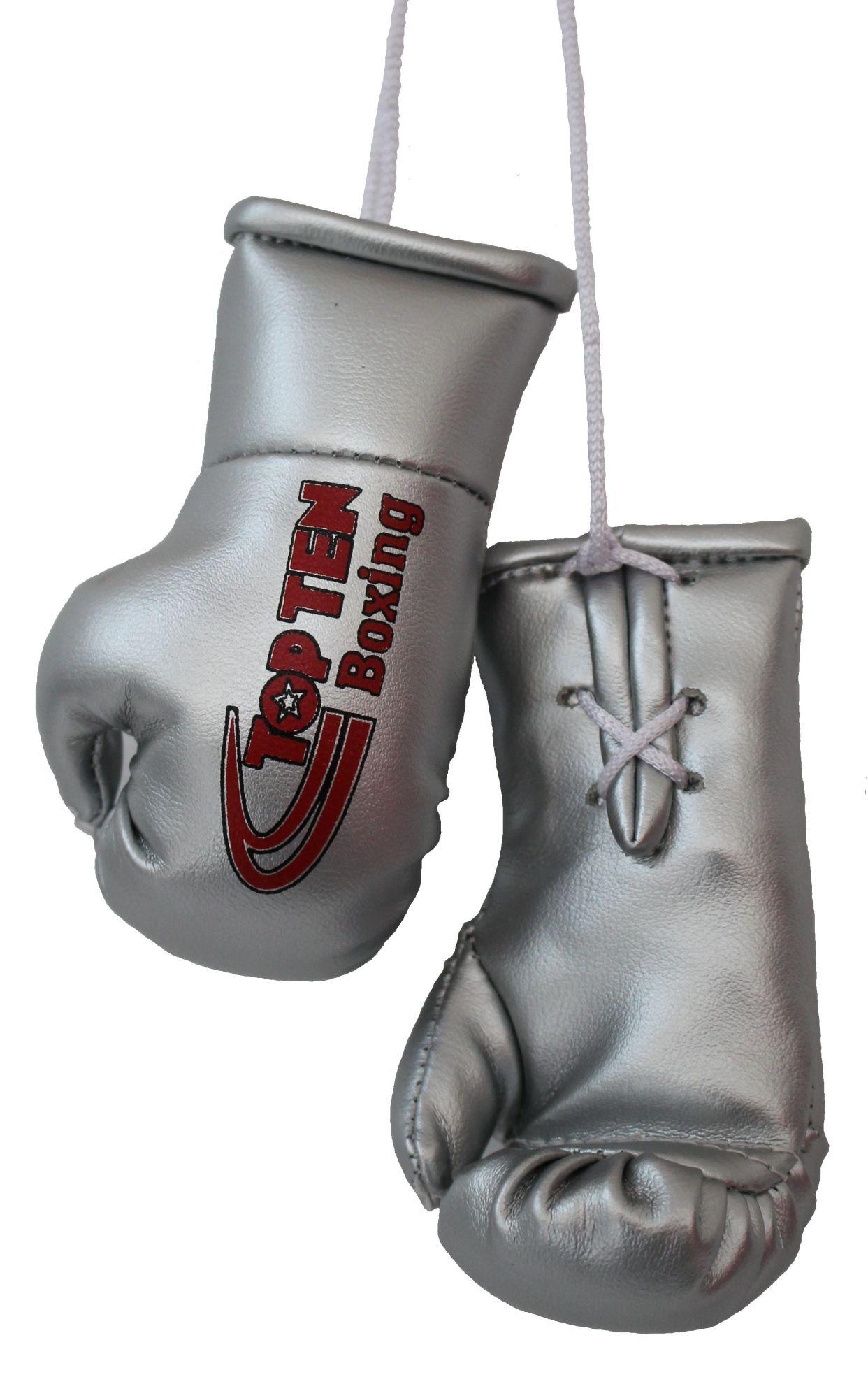 """TOP TEN Mini bokshandschoenen """"TOP TEN Boxing"""" zilver"""
