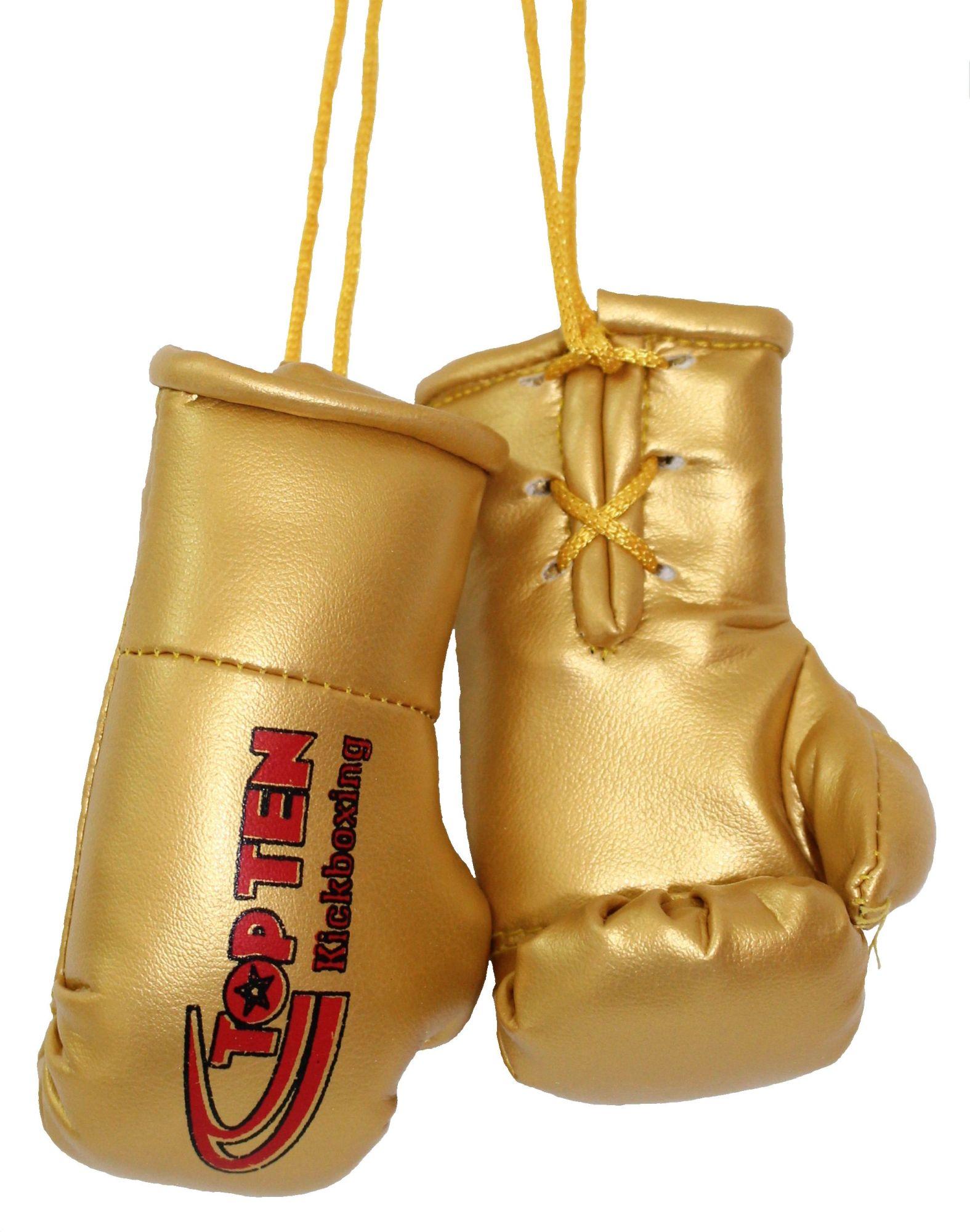 """TOP TEN Mini bokshandschoenen """"TOP TEN Kickboxing"""" goud"""