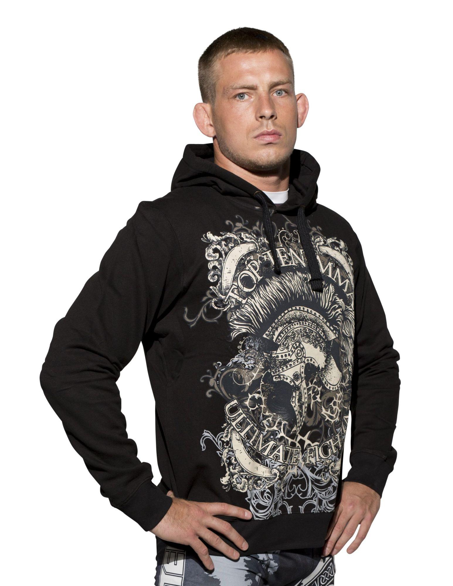 """TOP TEN MMA Hoodie """"MMA Spartan"""" Zwart"""