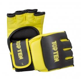 """TOP TEN MMA MMA handschoenen """"Competition"""" Zwart - Geel"""