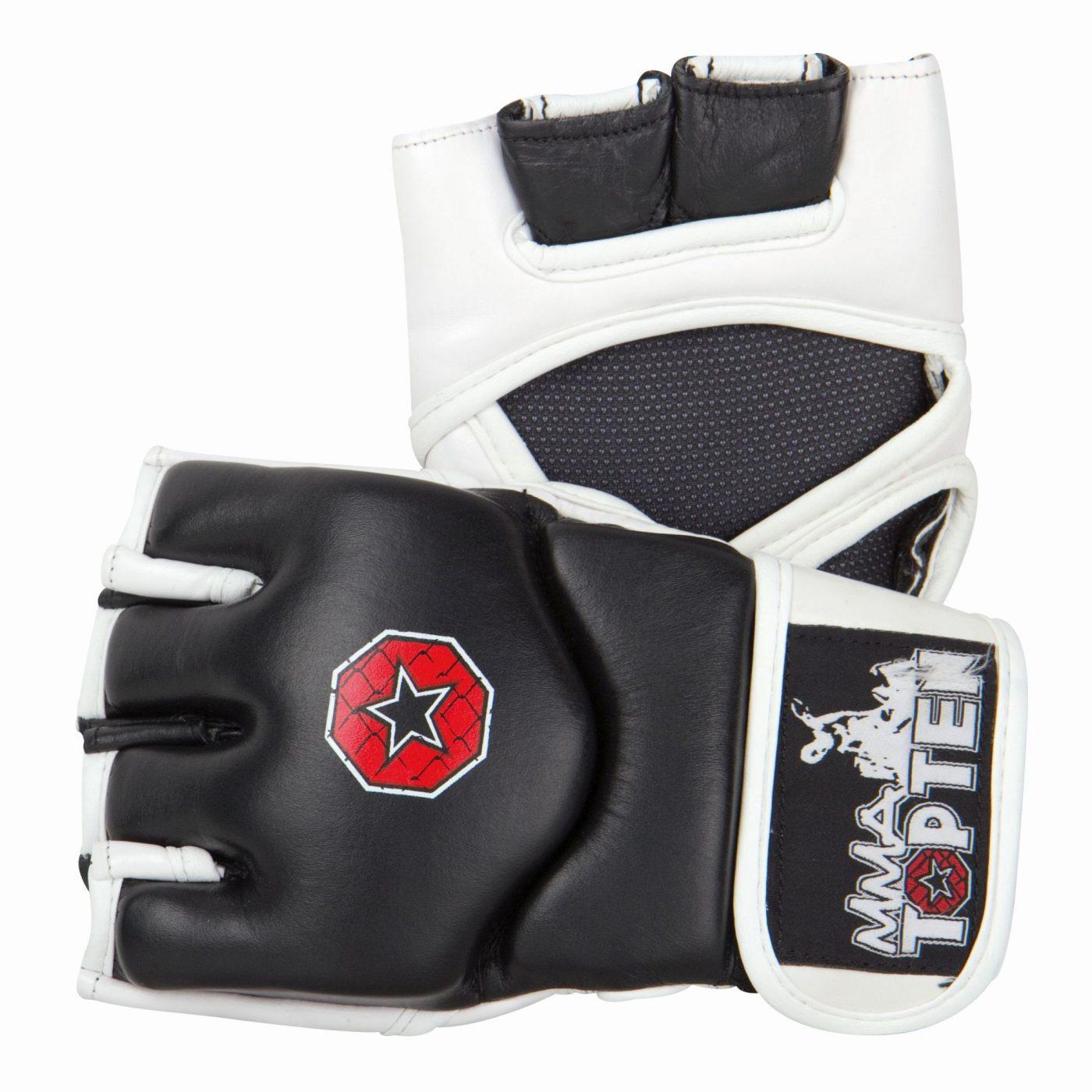 """MMA handschoenen """"E-Flexx"""" Zwart - Wit"""