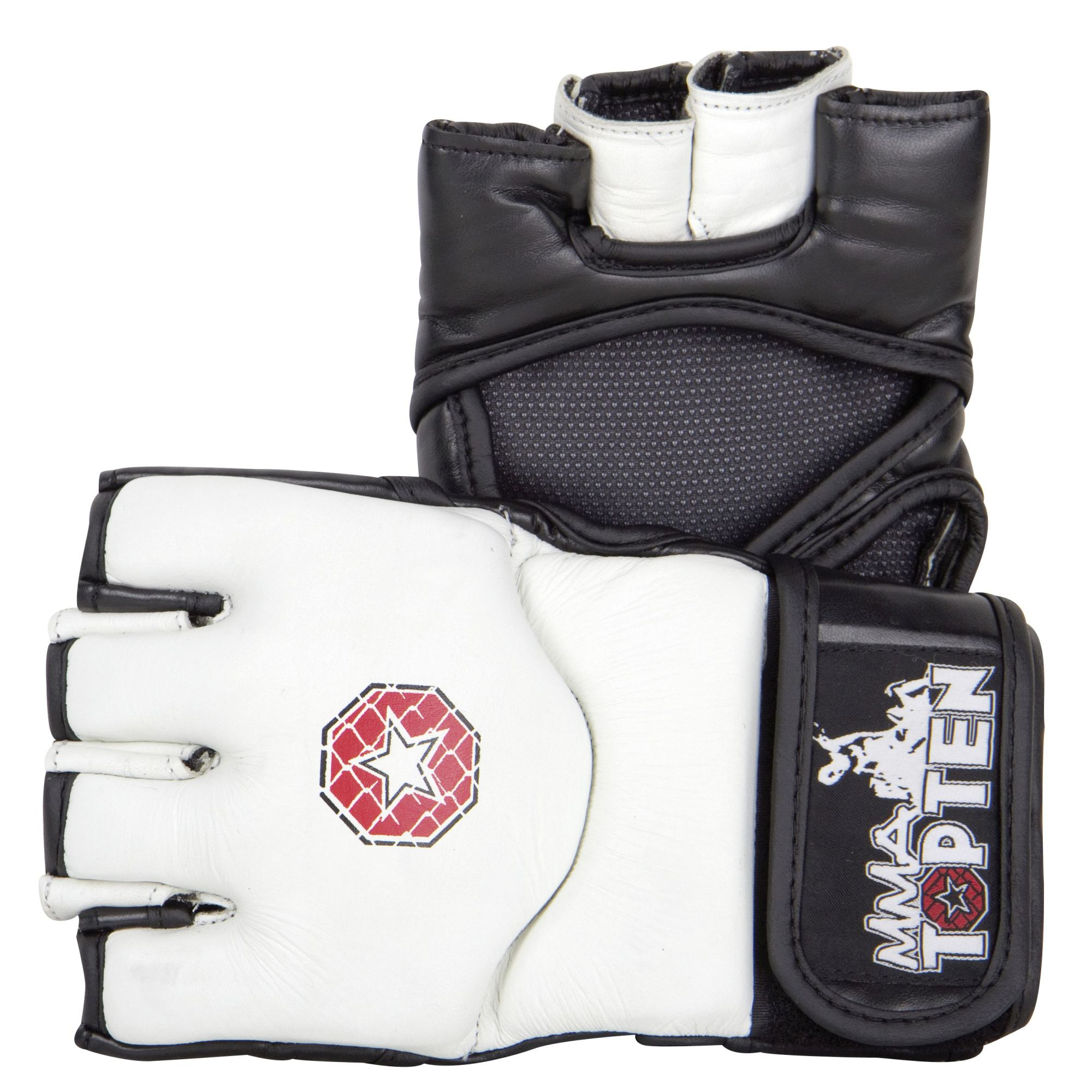 "TOP TEN MMA MMA handschoenen ""E-Flexx"" Wit - Zwart"