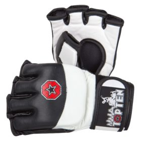 "MMA handschoenen ""Freefight"" Zwart - Wit"