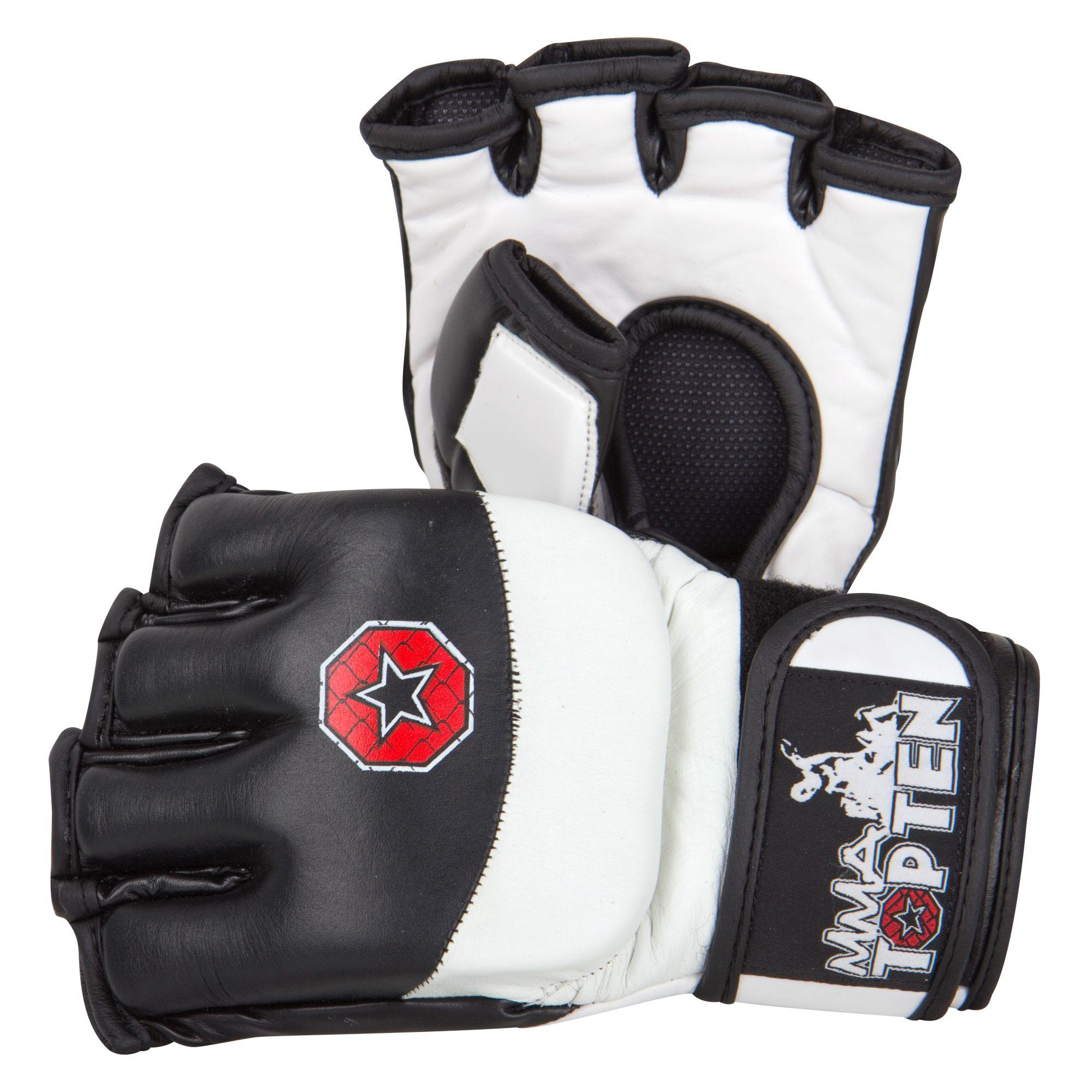 """TOP TEN MMA MMA handschoenen """"Freefight"""" Zwart - Wit"""