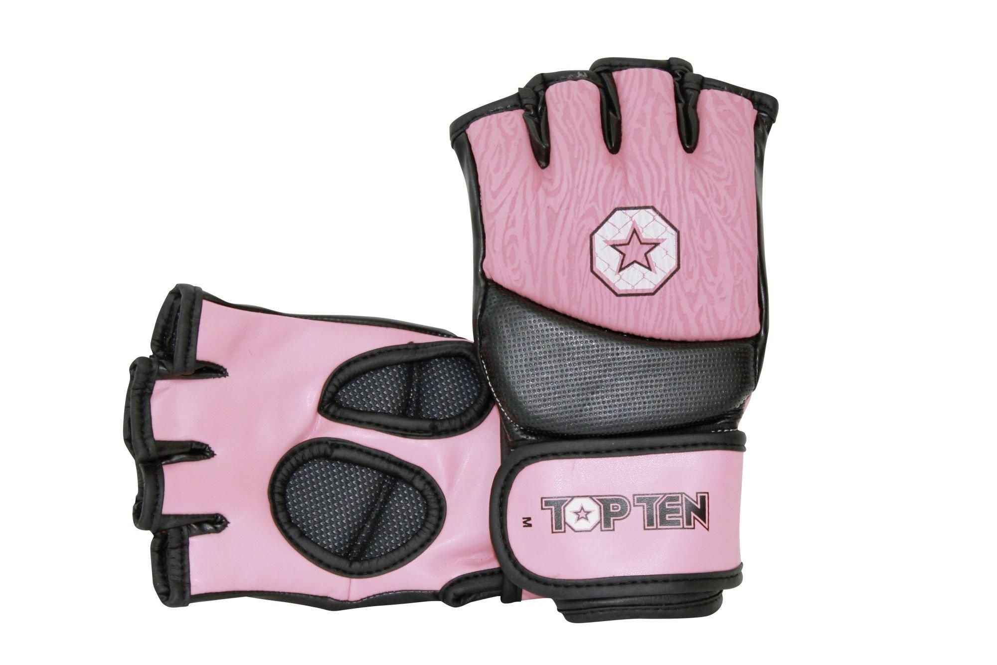 """TOP TEN MMA MMA handschoenen """"Girls"""" voor dames rosé - Zwart"""
