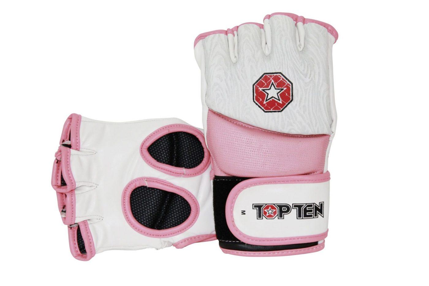 """MMA handschoenen """"Girls"""" voor dames Wit - rosé"""