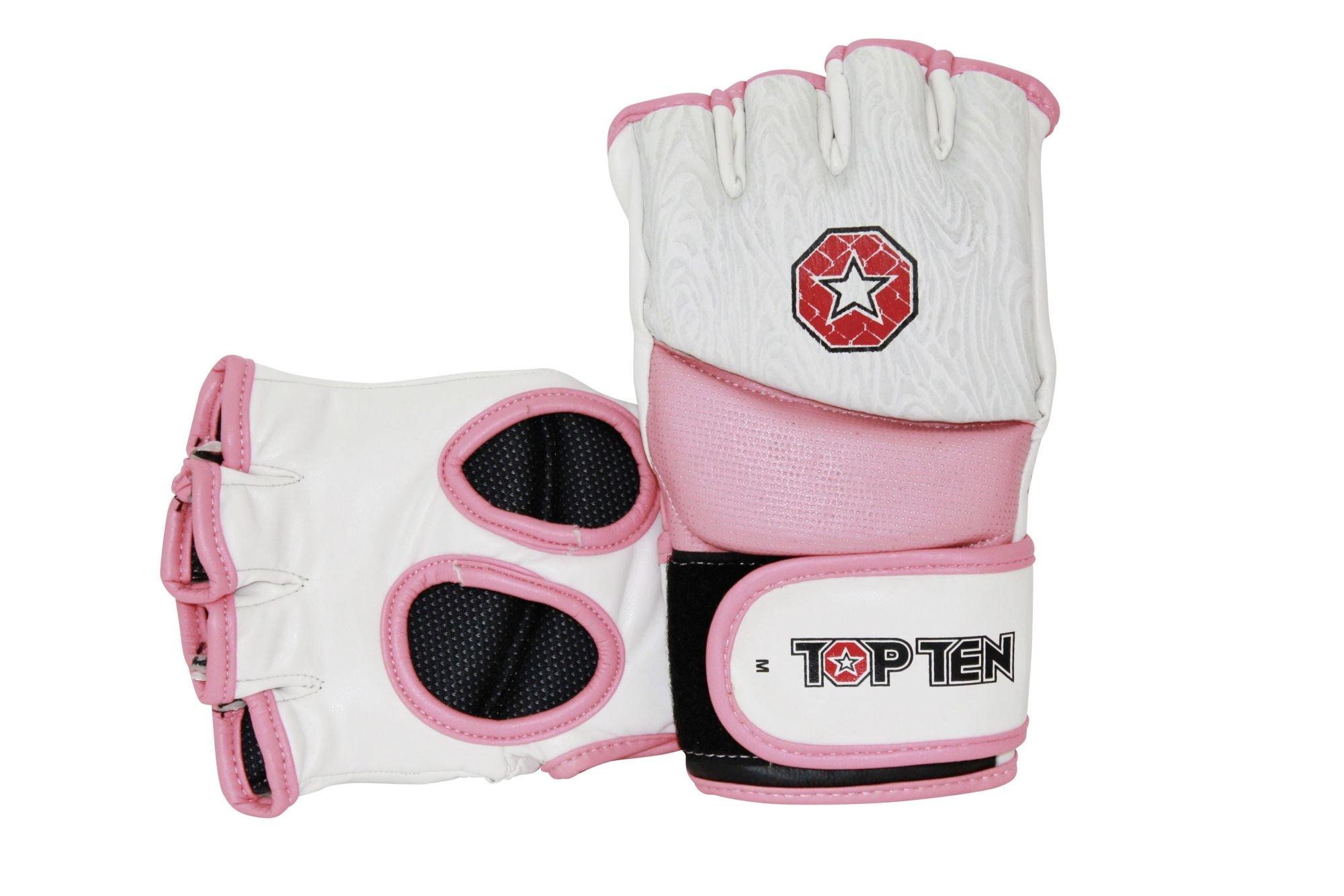 """TOP TEN MMA MMA handschoenen """"Girls"""" voor dames Wit - rosé"""
