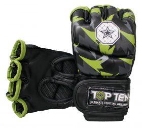 "MMA handschoenen ""Jungle"" Zwart - Groen"