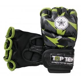 """TOP TEN MMA MMA handschoenen """"Jungle"""" Zwart - Groen"""