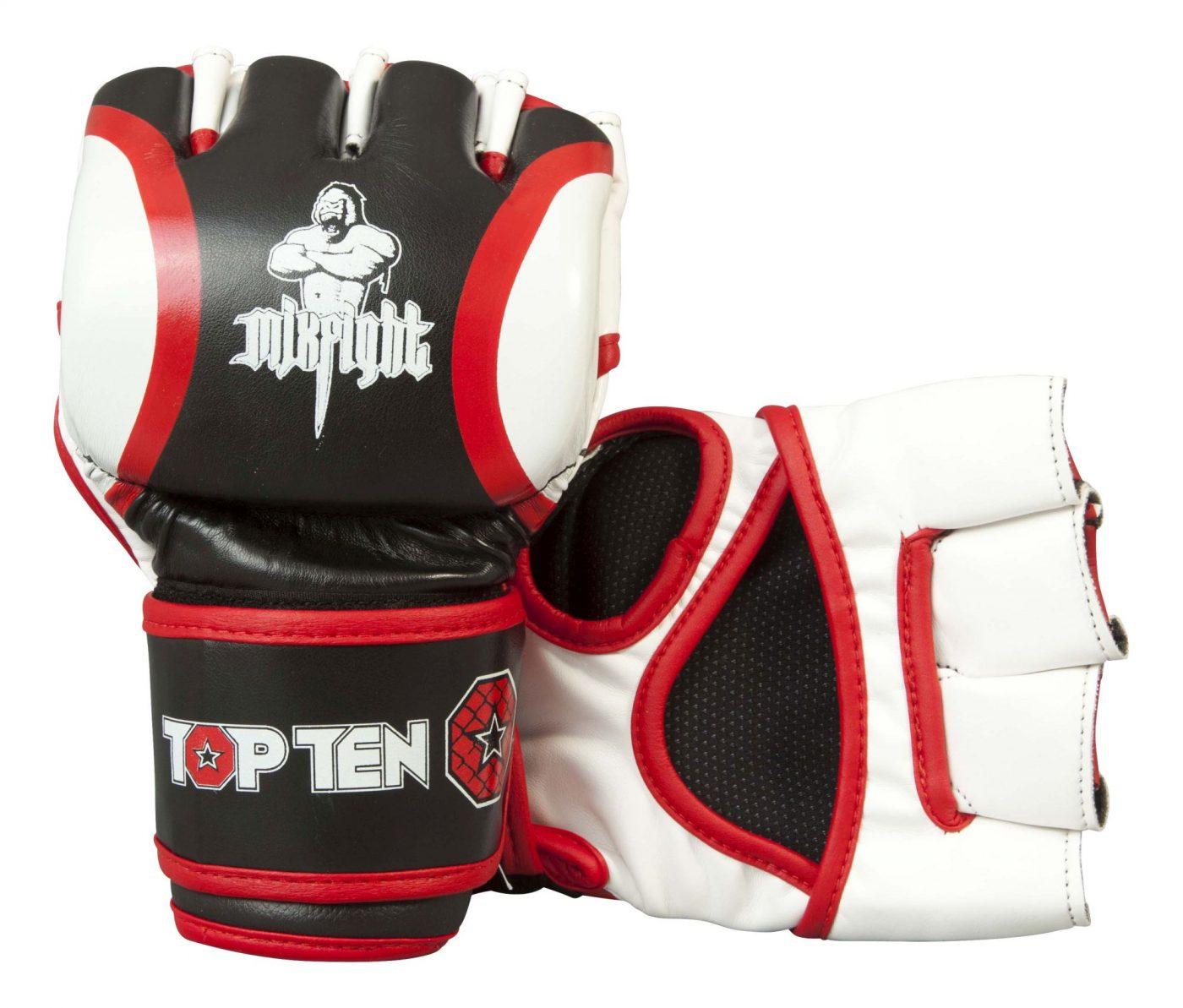 """TOP TEN MMA MMA handschoenen """"Mixfight"""" Zwart - Wit"""