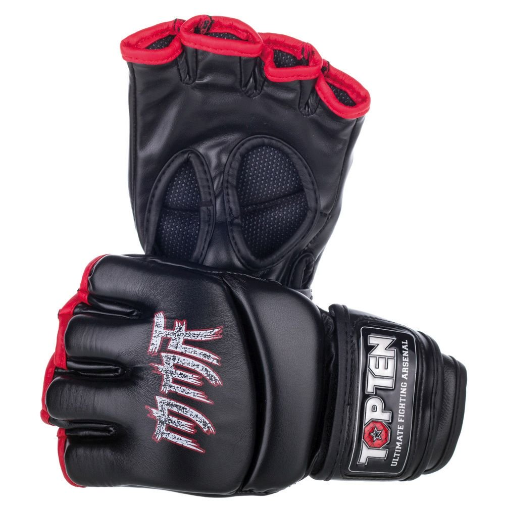 """TOP TEN MMA MMA handschoenen """"MMA Symbol"""" Zwart"""