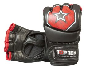 """MMA handschoenen """"Octagon"""" Zwart - rood"""