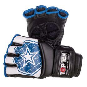 """MMA handschoenen """"Octagon"""" Wit - Blauw"""