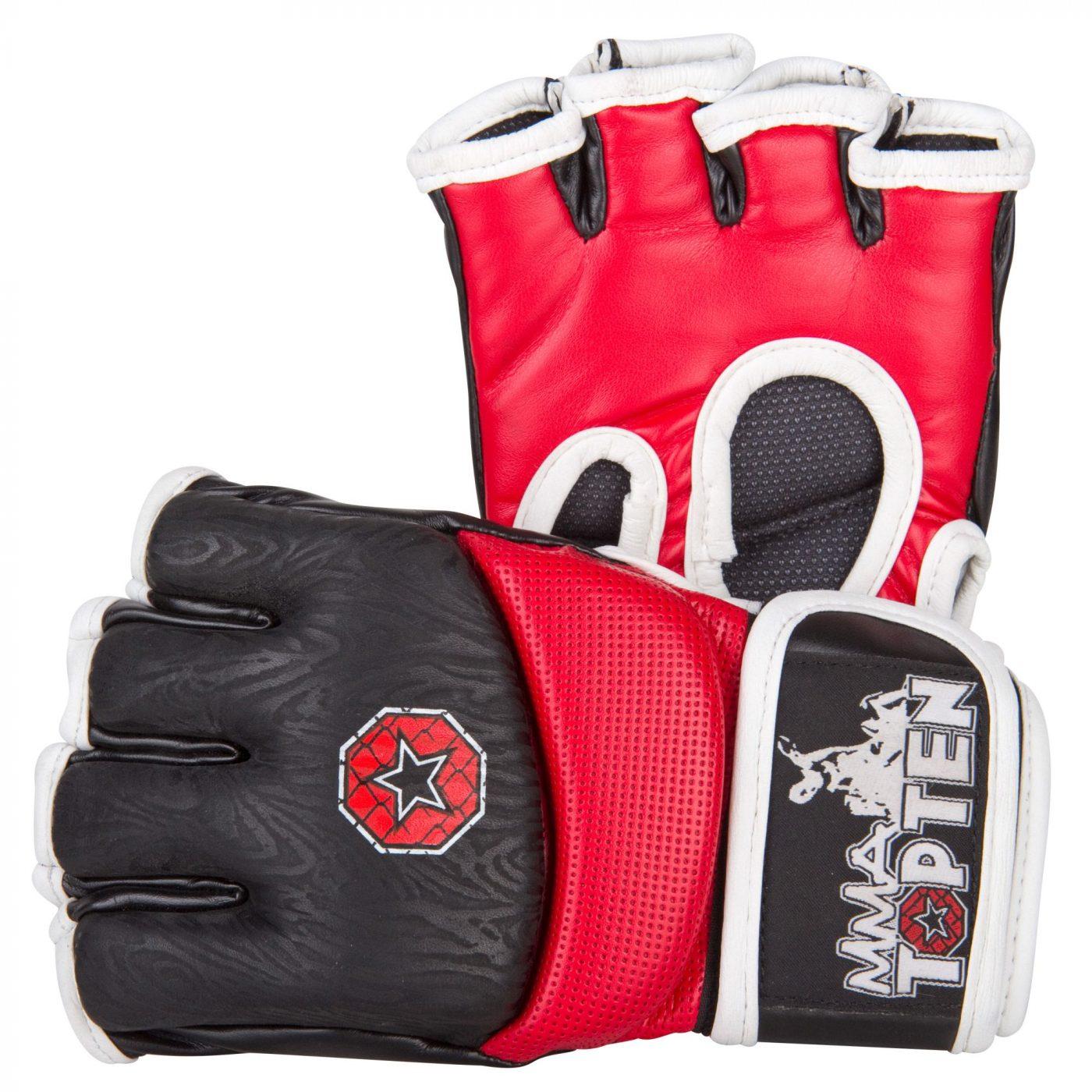 TOP TEN MMA MMA handschoenen Rood - Zwart