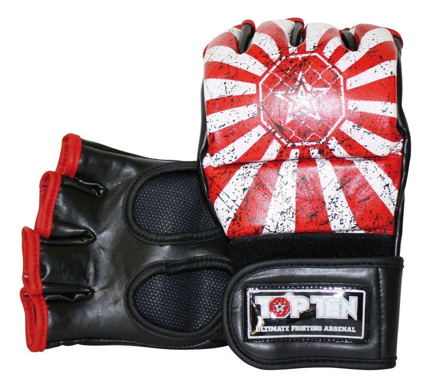 """MMA handschoenen """"Rise"""" Rood - Wit"""