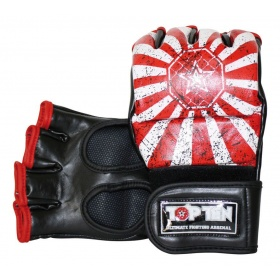 "TOP TEN MMA MMA handschoenen ""Rise"" Rood - Wit"