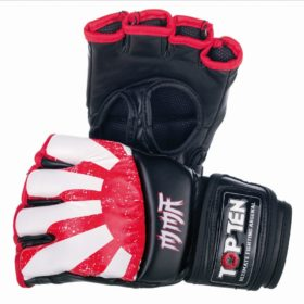 "TOP TEN MMA MMA handschoenen ""Sunrise"" Rood - Wit"