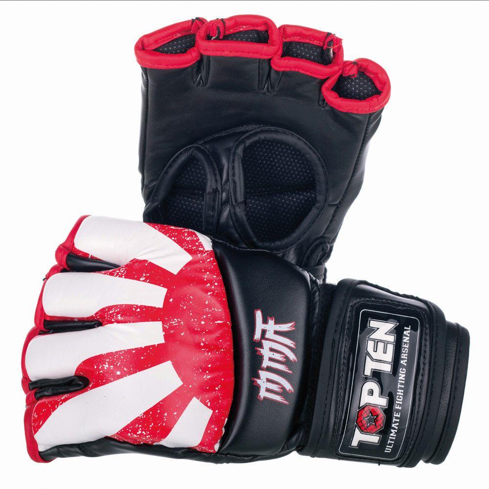 "TOP TEN MMA MMA handschoenen ""Sunrise"" Rood - Wit"