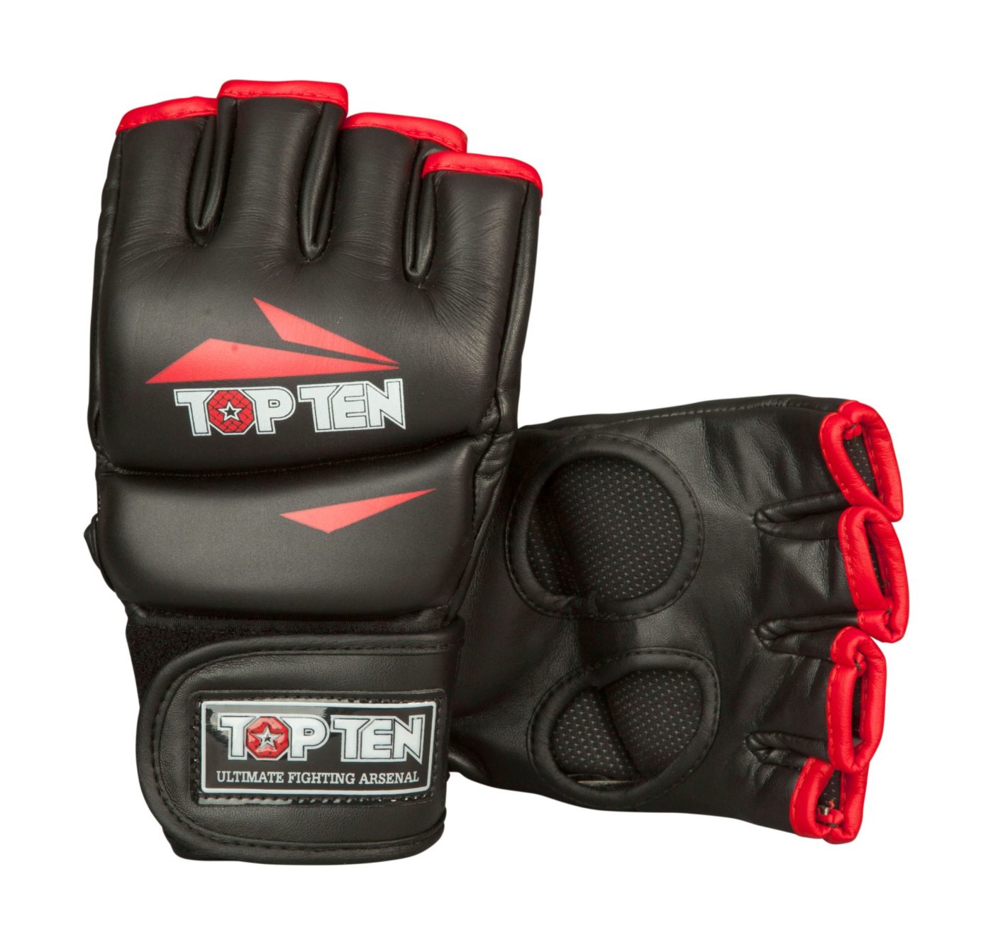 "MMA handschoenen ""Triangle"" Zwart - rood"