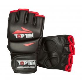 """TOP TEN MMA MMA handschoenen """"Triangle"""" Zwart - rood"""
