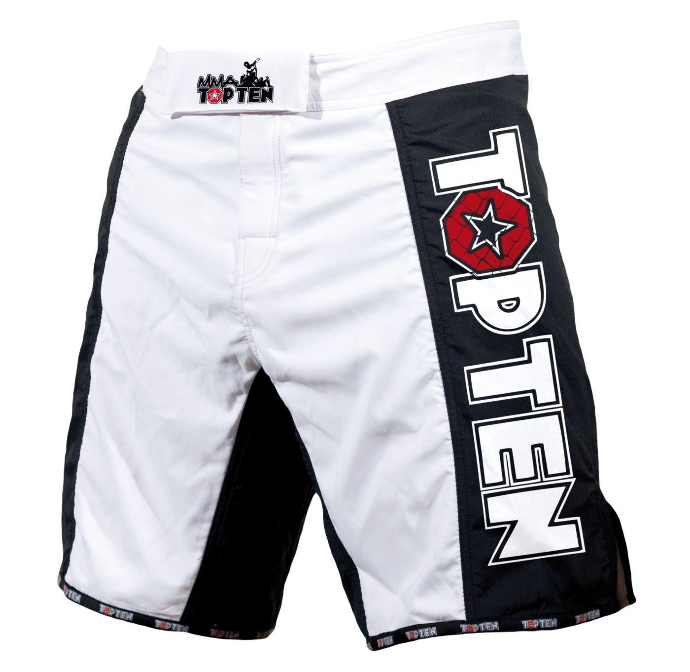 """TOP TEN MMA MMA broekje """"Competition"""" Zwart - Wit"""