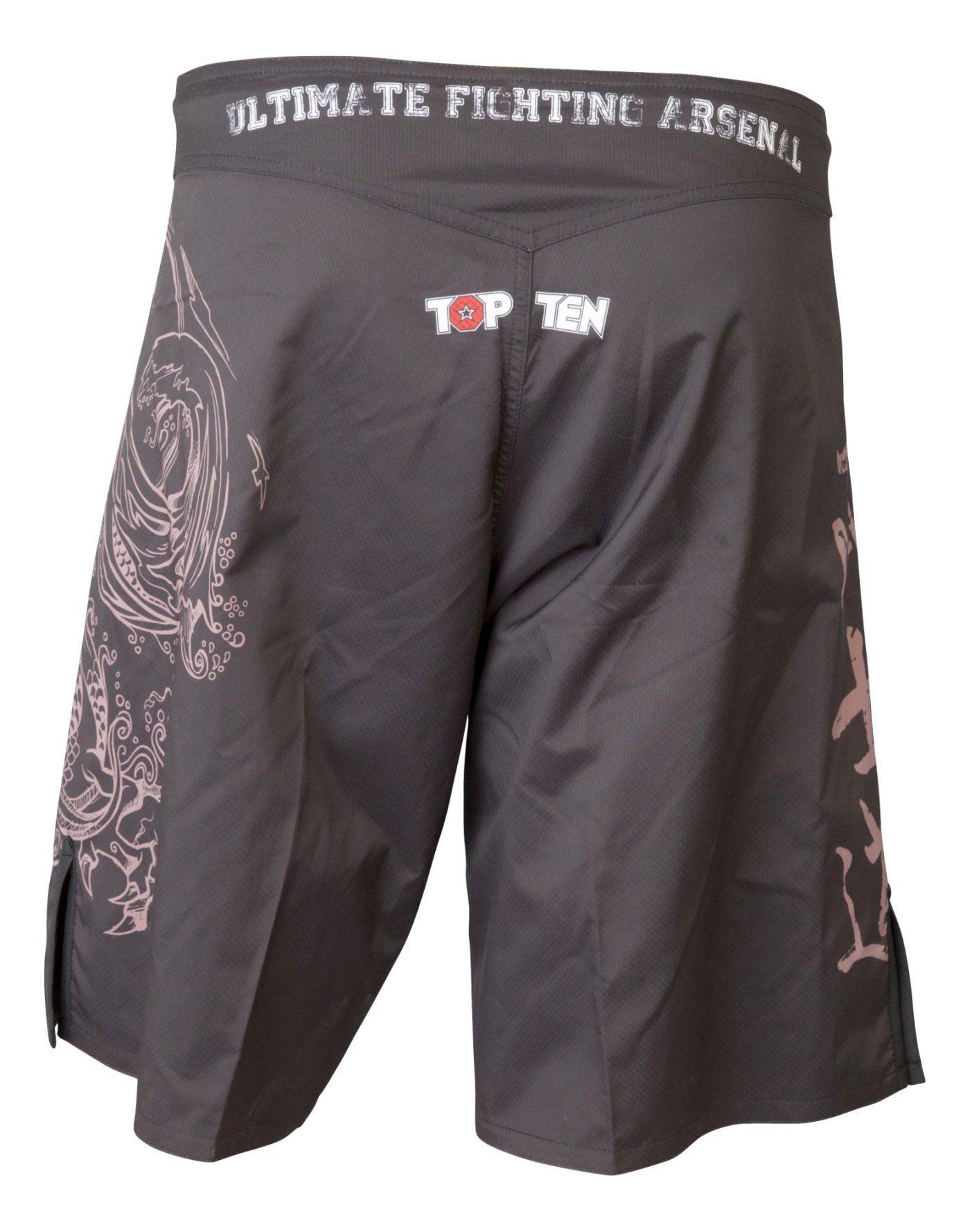 """TOP TEN MMA MMA broekje """"Dragon"""" Zwart - Paars"""