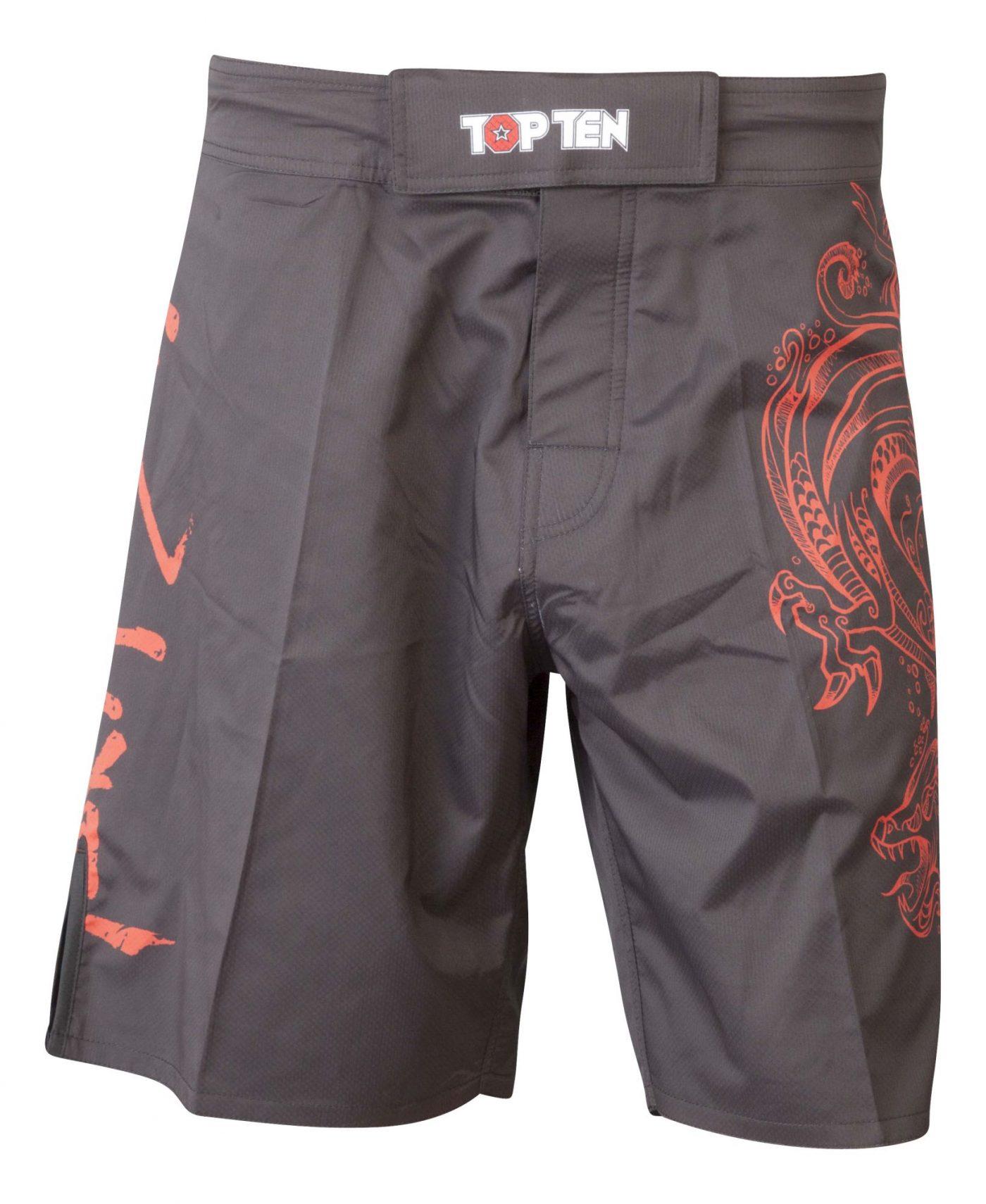 """MMA broekje """"Dragon"""" Zwart - rood"""